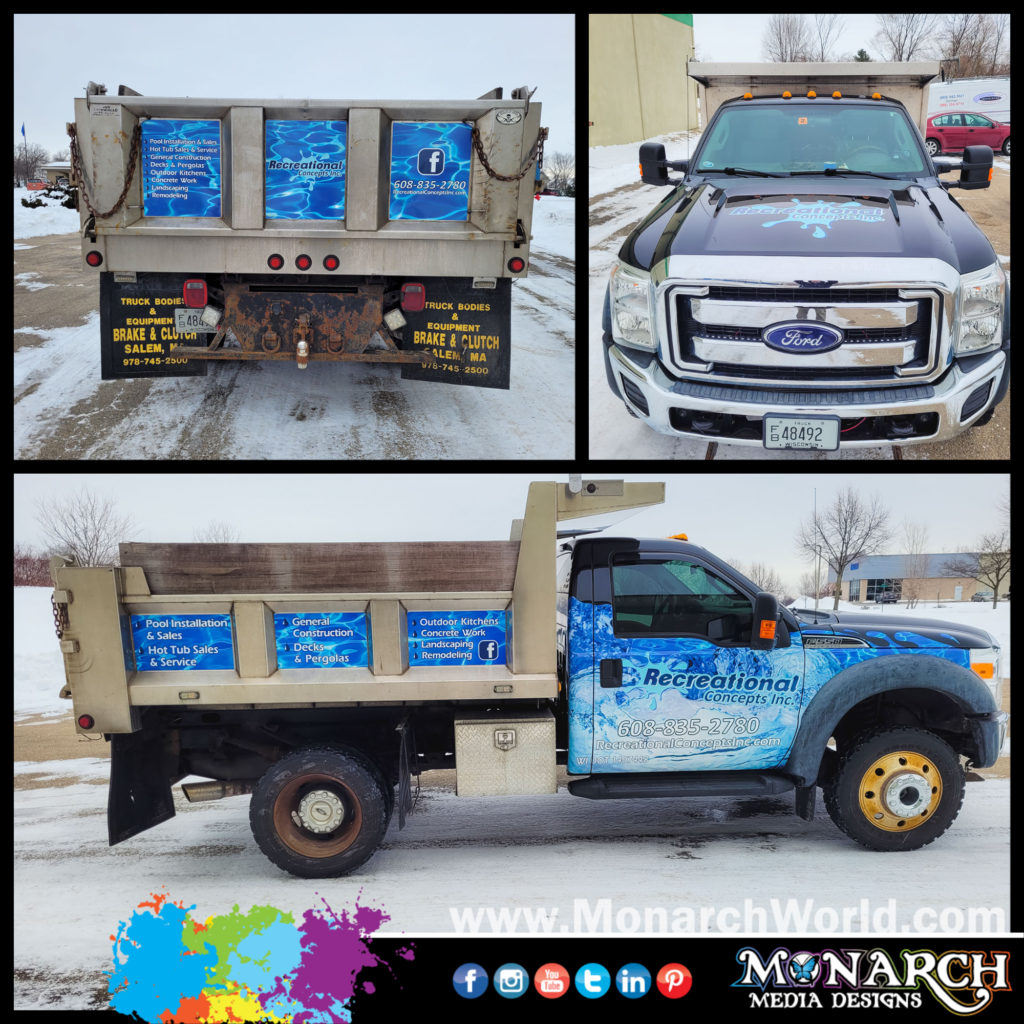 Rec Con Dump Truck Collage