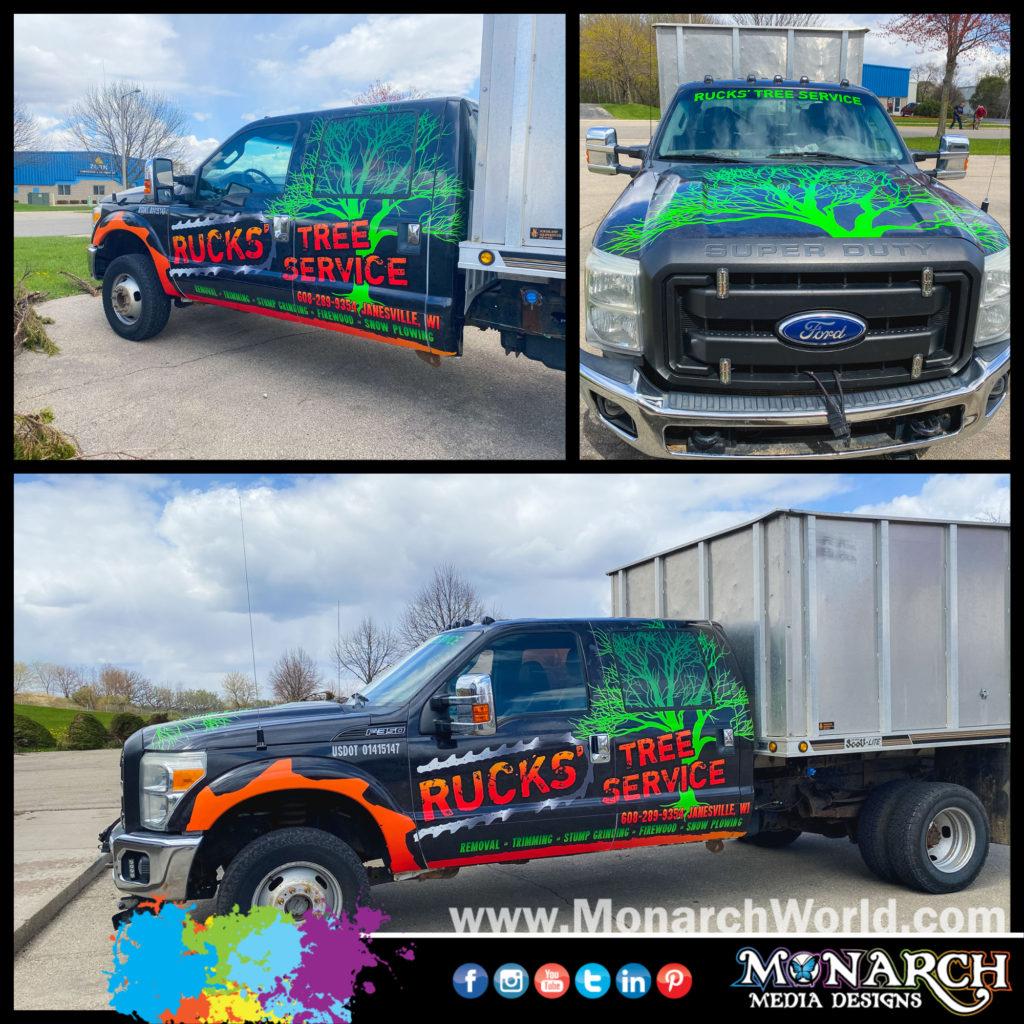 Rucks Dump Truck Wrap Collage