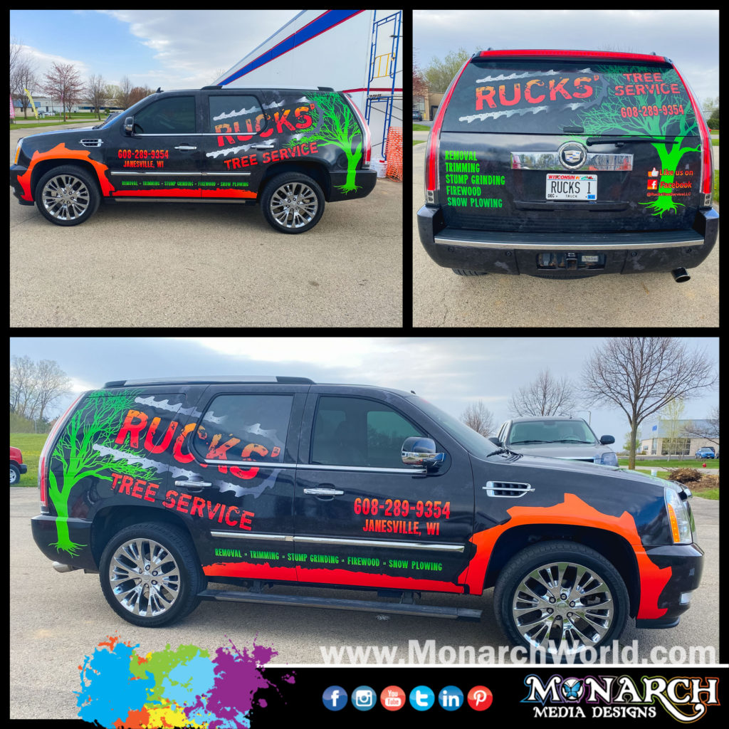 Rucks Wife Truck Wrap Collage