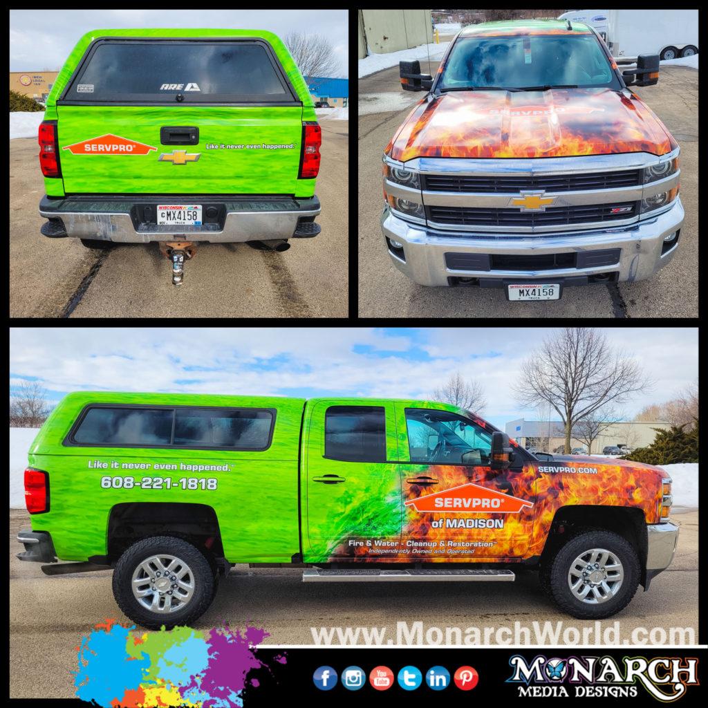 Servpro Truck Wrap Collage